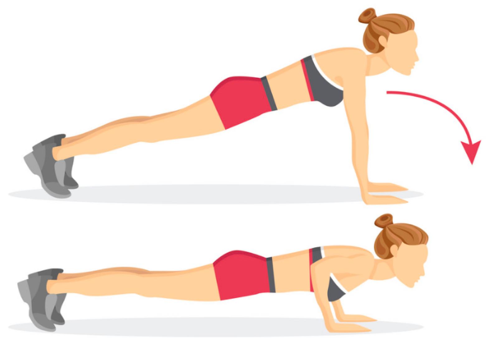 Woman Doing Weight Loss Push Ups
